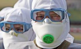 Máscara protetora do homem Fotos de Stock Royalty Free