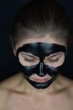 Máscara protetora preta Fotografia de Stock