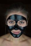 Máscara protetora preta Fotos de Stock Royalty Free