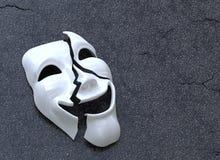 Máscara rachada ilustração royalty free