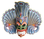 Máscara-recuerdo indonesio tradicional (del Balinese) Fotografía de archivo