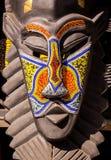Máscara ritual tribal étnica de madera africana de las barbas Fotos de archivo