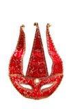 Máscara roja del carnaval Imágenes de archivo libres de regalías