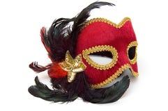 Máscara roja del carnaval Imagen de archivo libre de regalías