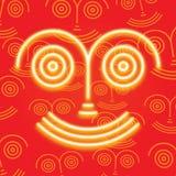 Máscara roja sonriente Imágenes de archivo libres de regalías