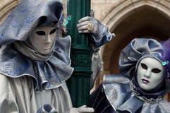 Máscara roxa de Veneza Fotos de Stock