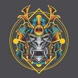 Máscara santa del samurai stock de ilustración