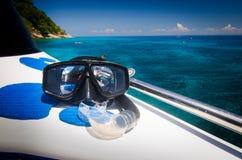 Máscara Snorkeling Foto de Stock