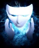 Máscara teatral branca da pantomima Imagem de Stock Royalty Free