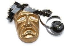 Máscara teatral e película Imagens de Stock