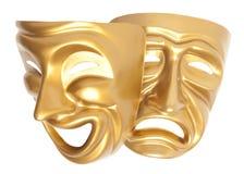 Máscara teatral isolada foto de stock