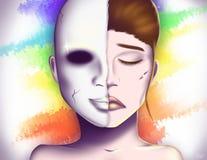 Máscara teatral | Pretendente ilustração stock