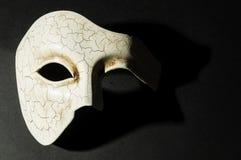 Máscara texturizada blanco Fotografía de archivo