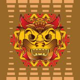 Máscara tradicional ilustração stock