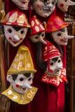 Máscara tradicional de Venecia fotos de archivo