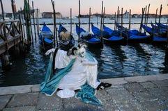 Máscara tradicional de Venecia del carnaval fotos de archivo