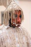 Máscara tradicional esloveno de Laufar Imagens de Stock
