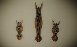 Máscara tribal del caballo Imagenes de archivo