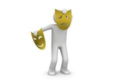 Máscara triste del teatro - artes/hospitalidad Imagen de archivo libre de regalías