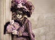 Máscara veneciana con el espacio de la copia Foto de archivo libre de regalías