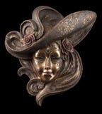 Máscara veneciana de la decoración Imagen de archivo libre de regalías