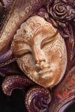 Máscara veneciana de la decoración Fotos de archivo libres de regalías