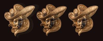 Máscara veneciana de la decoración Imagenes de archivo