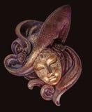 Máscara veneciana de la decoración Fotografía de archivo