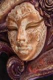 Máscara veneciana de la decoración Foto de archivo