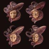 Máscara veneciana de la decoración Foto de archivo libre de regalías