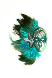 Máscara veneciana de la turquesa Imagen de archivo libre de regalías