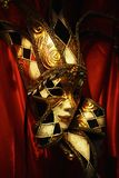 Máscara veneciana del carnaval imagenes de archivo