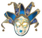 Máscara veneciana del carnaval con los carillones Fotografía de archivo libre de regalías