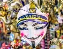 Máscara veneciana del carnaval en Italia, destino del viaje Fotos de archivo