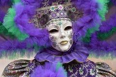 Máscara veneciana del carnaval tradicional Imagen de archivo libre de regalías