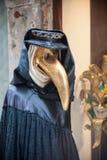 Máscara veneciana del doctor del pico Fotos de archivo