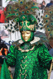 Máscara veneciana del pavo real Fotos de archivo