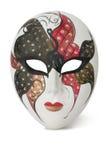 Máscara veneciana en blanco Fotografía de archivo libre de regalías