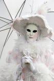 Máscara veneciana en el carnaval de Annecy Imagenes de archivo