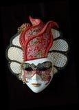 Máscara veneciana hecha a mano (roja) Fotos de archivo
