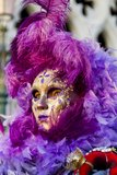 Máscara veneciana tradicional del carnaval Fotos de archivo libres de regalías