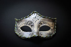 Máscara Venetian branca imagem de stock royalty free