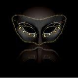 Máscara Venetian com fundo preto Imagem de Stock