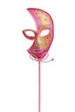 Máscara venetian cor-de-rosa Imagem de Stock