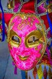 Máscara Venetian cor-de-rosa Veneza Itália Fotografia de Stock Royalty Free
