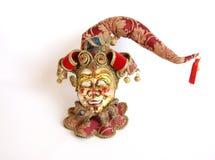 Máscara venetian de Beautifull isolada no branco Imagens de Stock Royalty Free