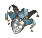 Máscara Venetian do carnaval no fundo branco isolado Imagem de Stock Royalty Free