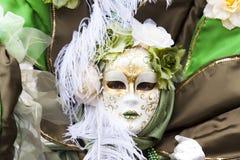 Máscara Venetian do carnaval - senhora Nature Fotos de Stock Royalty Free