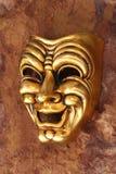 Máscara Venetian dourada foto de stock