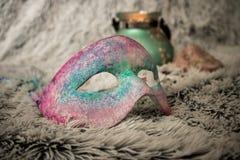 Máscara venetian feito a mão do estilo fotos de stock royalty free